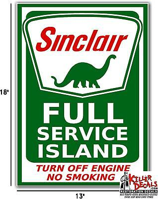 "18"" Sinclair Full Service Island #2 Gasoline Gas Oil Decal"
