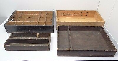 Antique Vintage Lot Used Coca Cola Allen & Hall Companhia Storage Drawers Boxes