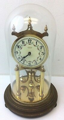 Vintage Kundo W. Germany Dome Top Brass Movement Royce Watch Mantle Clock Parts