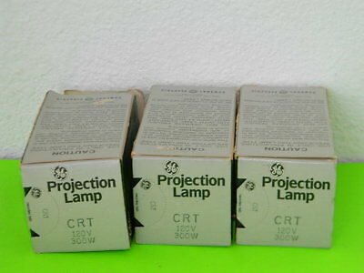 3x Neuf General Electric Ge Projection Lampe Crt 120V 300W Lot de 3