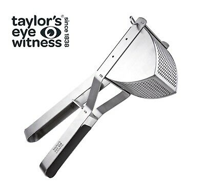 Taylor's Eye Witness Stainless Steel Heavy Duty Potato Ricer With Rubber Grip