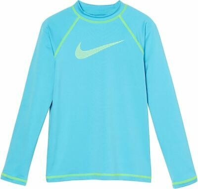 Nike Girls' Cover-Ups - Long Sleeve Hydro Top - UV Top - M/L/XL -  Blue