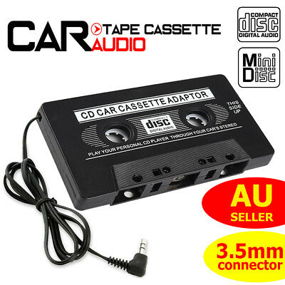 Car Tape Cassette AUX Audio Adapter 3.5mm Music Converter for iPhone iPod MP3 CD