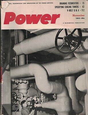 Power Magazine November 1952 TVA Commercial Piping
