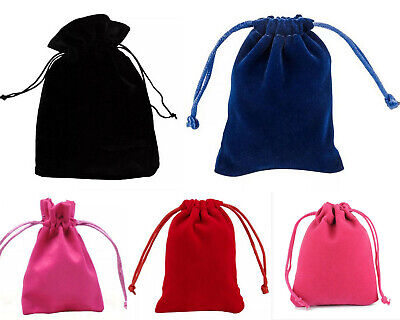 10 20 50 Thick Velvet Jewellery Drawstring Wedding Gift Bag Favour Pouches Bags