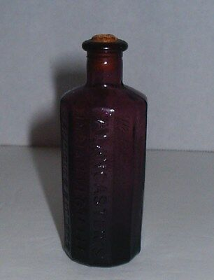 1852 Col Sam Johnson Proprietor Rich,Va A Lancaster's Jaundice Bitters Purpl Bot