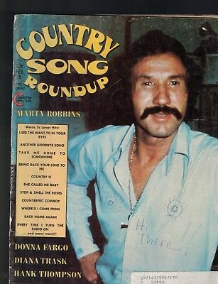 Country Song Roundup February 1975 Marty Robbins Hank Thompson Donna Fargo