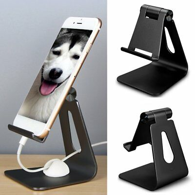 Aluminum Desk Stand Holder Desktop Fr Mobile Phone Tablet iPad iPhone 6 7 Lot GH