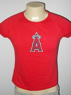Nwt ! Majestic Los Angeles Angels Rosso Team MLB Camicia Donna Large