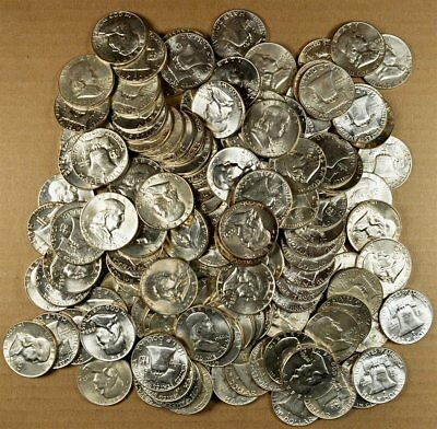 Roll of 20 Mixed 1957-1962  PD AU / Slider / Uncirculated Franklin Half Dollars