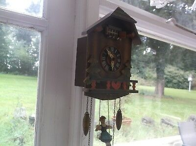 A Pretty German Cuckoo Type Clock Wind Up For Restoration