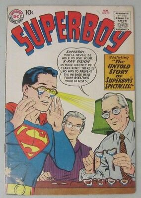 Superboy #70 January 1959 Dc Comics Superboy's Spectacles Glasses Cover