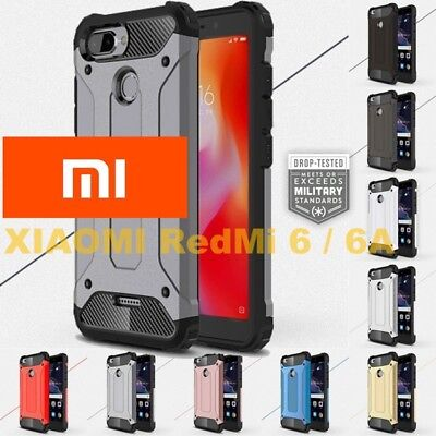 Custodia Cover Rugged Armor case anti URTO CANTIERE per XIAOMI RedMi 6 / 6A