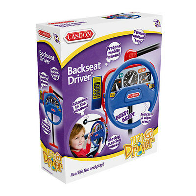New Casdon Kids Toy Backseat Driver Pretend Play Steering Wheel Car Driving 214