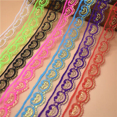 10 Yards 22mm Wide Lace Ribbon for sewing DIY Embroidered clothing Wedding Decor