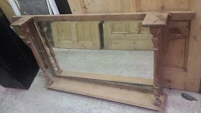Large Antique Over Mantle Mirror - good condition