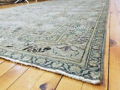 """Rare Muted Colors Antique 1920s Legendary 6'5"""" x9'4"""" Wool Pile Hereke Rug"""
