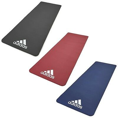 Adidas 7mm Exercise Mat Gym Training Fitness Large Thick Padded Yoga Workout