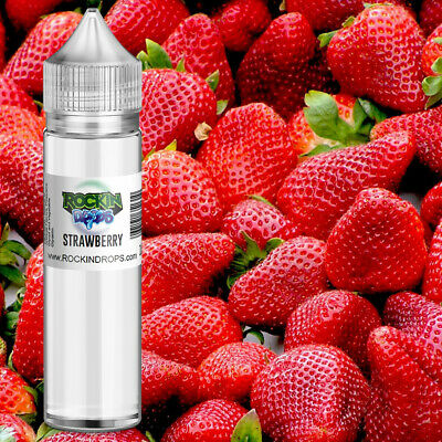 ROCKINDROPS Strawberry Food Flavor Flavoring Concentrate TFA 10ml 30ml 50ml