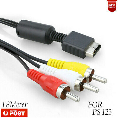 Audio Video AV HD TV Cord Cable to 3 RCA For Sony PlayStation PS / PS2 / PS3