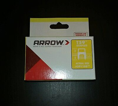 Arrow 300-Count 1/4-in Clear Plastic Insulated Cable Staples ( For T59P ) 591188