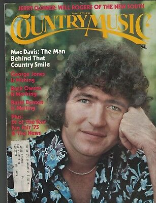 Country Music Magazine June 1975 Mac Davis George Jones Barbi Benton