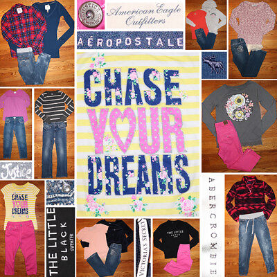 Girls Size 12/14 Fall Clothing Lot, Jeans, Tops, Hoodie, EUC, NWT, FREE SHIP!