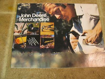 Vintage John Deere Merchandise Advertising Sales Brochure 1975 Tools Accessories