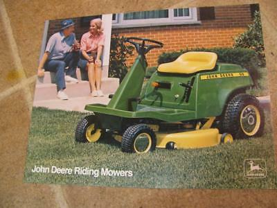 Vintage John Deere Riding Mowers 66 68 96 Advertising Sales Brochure 1975