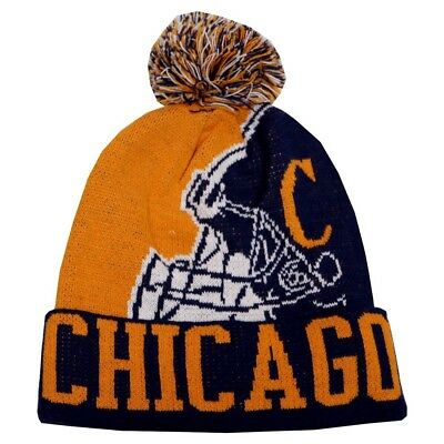 New Chicago Bears Vintage Patch Navy Blue Beanie Winter Hat Skull