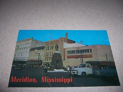 1950s WESTERN AUTO STORE DOWNTOWN MERIDIAN MISSISSIPPI VTG POSTCARD