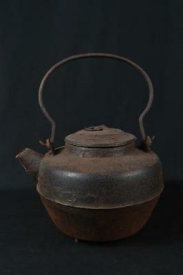 M241: Japanese XF Old Iron BIG TEA KETTLE Teapot Tetsubin Tea Ceremony