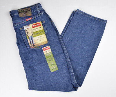 Wrangler Men's Regular Fit Jeans 5-Star Blue jeans New With Tags Dark Stonewash