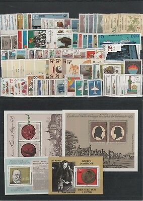 Germany East DDR Jahrgang yearset 1982 postfrisch MNH ** komplett complete