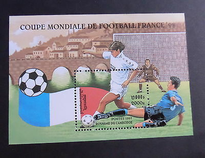 Cambodia 1997 World Cup Football Championships MS1619 MNH UM unmounted mint