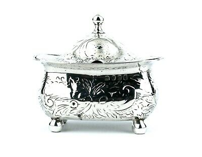 Antique Georgian Sterling Silver Mustard Pot Large 4 Footed Gilt Interior 1808