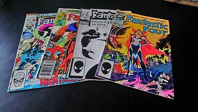 Fantastic Four #248 #249 #276 #281 Original Marvel Comics x 4 (1982)