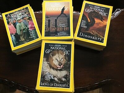 National Geographic Magazines 1970s,80s,90s - set of 50 magazines projects, art