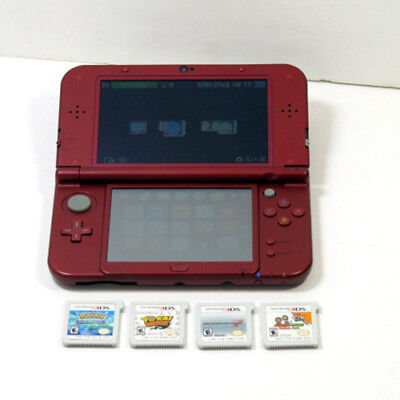 New 3DS XL Console with 4 Games (USA Region Code)
