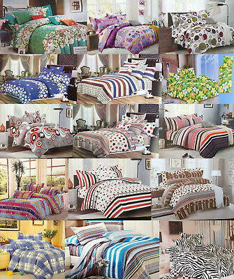 Multicoloured Attractive Different Designs Duvet Cover Bedding Set, Pillowcases