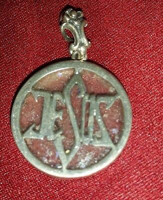 Star of David Jerusalem Ancient Roman Glass Sterling Silver JESUS Pendant~Israel