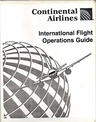 Continental Intl Flight Operations Guide, 277 pages
