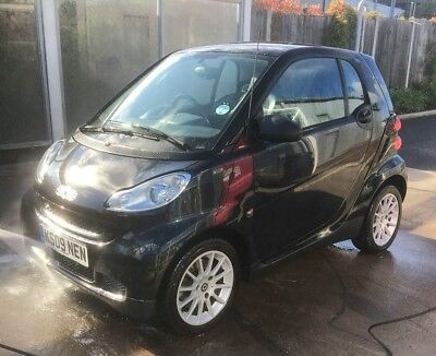 Smart ForTwo 451 84 BHP Black TURBO Passion FSH Air Con Automatic Full Leather