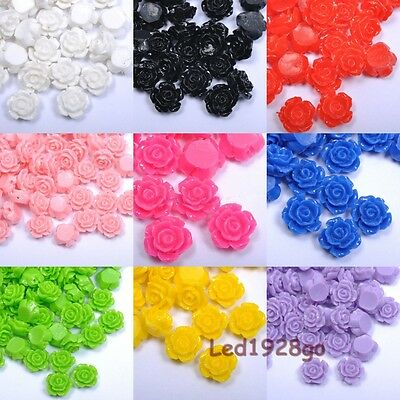 Nature 10-20 Pcs Gorgeous Rose Flower Coral Resin Spacer Beads 10/12/15mm U Pick