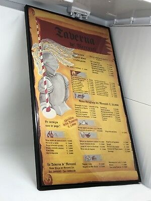 "Italian Restaurant Menu (From Rome) Framed. 16"" X 27"""