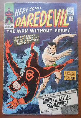 Daredevil #7 1st Red Costume Wally Wood art low grade