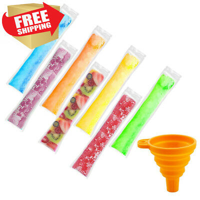 160 Pieces Ice Popsicle Molds Bags,Zip-Top Disposable DIY Pop Mold Bags for...