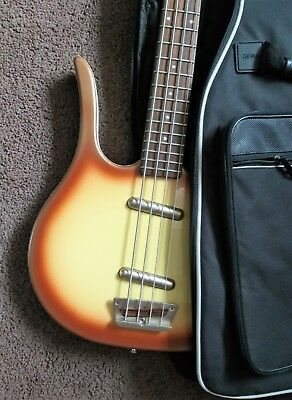 DANELECTRO LONGHORN 58 PB BASS Copper Metallic Burst - Doublecutaway - Gig Bag -