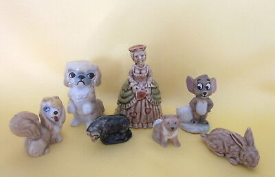 7 Wadewhimsies Mixed Lot Jerry Figure~Chee -Chee~ Bo-Peep~Peg~Husky~Rabbit~Ram