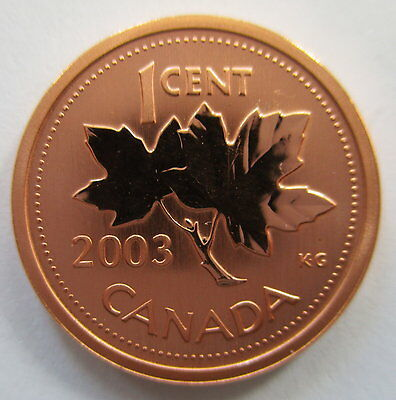 2003P Canada 1 Cent Magnetic Specimen Penny Coin